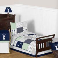 Sweet Jojo Designs Woodsy 5-Piece Toddler Bedding Set in Navy/Mint