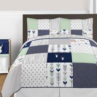 Sweet Jojo Designs Woodsy 3-Piece Full/Queen Comforter Set in Navy/Mint