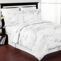 Sweet Jojo Designs Marble 3-Piece Full/Queen Comforter Set in Black/White