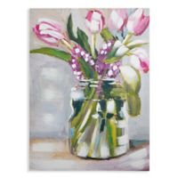 Arthouse Pink Painted Tulips Canvas Wall Art
