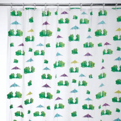 Captivating InterDesign® Frogs EVA Shower Curtain