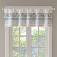 Madison Park Dawn Kitchen Window Valance in Blue