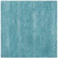 Safavieh Milan Shag 5-Foot 1-Inch x 5-Foot 1-Inch Sienna Rug in Aqua Blue
