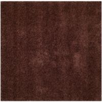 Safavieh Milan Shag 7-Foot x 7-Foot Sienna Rug in Brown