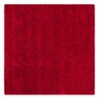 Safavieh California Shag 4-Foot x 4-Foot Irvine Rug in Red
