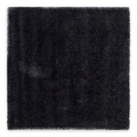Safavieh California Shag 4-Foot x 4-Foot Irvine Rug in Black