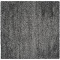 Safavieh California Shag 4-Foot x 4-Foot Irvine Rug in Dark Grey