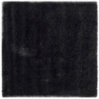 Safavieh California Shag 6-Foot 7-Inch x 6-Foot 7-Inch Irvine Rug in Black