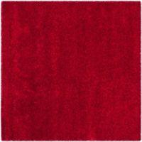 Safavieh California Shag 6-Foot 7-Inch x 6-Foot 7-Inch Irvine Rug in Red