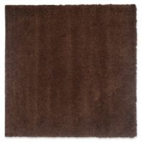 Safavieh California Shag 6-Foot 7-Inch x 6-Foot 7-Inch Irvine Rug in Brown