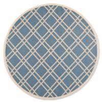 Safavieh Courtyard 7-Foot 10-Inch x 7-Foot 10-Inch Margot Indoor/Outdoor Rug in Blue/Beige