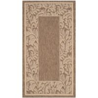 Safavieh Courtyard 2-Foot x 3-Foot 7-Inch Ximena Indoor/Outdoor Rug in Brown/Natural