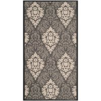 Safavieh Courtyard 2-Foot 7-Inch x 5-Foot Lyla Indoor/Outdoor Rug in Black/Sand