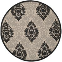 Safavieh Courtyard 5-Foot 3-Inch x 5-Foot 3-Inch Lyla Indoor/Outdoor Rug in Sand/Black