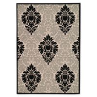 Safavieh Courtyard 5-Foot 3-Inch x 7-Foot 7-Inch Lyla Indoor/Outdoor Rug in Sand/Black