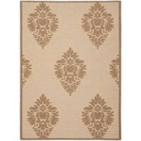 Safavieh Courtyard 6-Foot 7-Inch x 9-Foot 6-Inch Lyla Indoor/Outdoor Rug in Natural/Brown