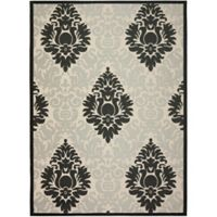 Safavieh Courtyard 8-Foot x 11-Foot Lyla Indoor/Outdoor Rug in Sand/Black