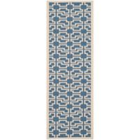 Safavieh Courtyard 2-Foot 3-Inch x 6-Foot 7-Inch Malia Indoor/Outdoor Rug in Blue/Beige