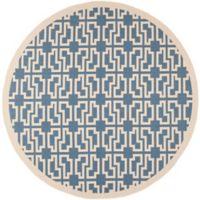Safavieh Courtyard 7-Foot 10-Inch x 7-Foot 10-Inch Malia Indoor/Outdoor Rug in Blue/Beige