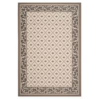Safavieh Courtyard 6-Foot 7-Inch x 9-Foot 6-Inch Sloan Indoor/Outdoor Rug in Beige/Dark Beige