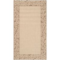 Safavieh Courtyard 2-Foot 7-Inch x 5-Foot Emma Indoor/Outdoor Rug in Natural/Brown