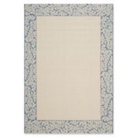 Safavieh Courtyard 5-Foot 3-Inch x 7-Foot 7-Inch Emma Indoor/Outdoor Rug in Natural/Blue
