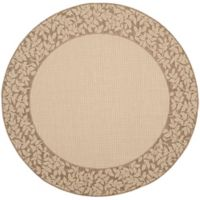Safavieh Courtyard 6-Foot 7-Inch x 6-Foot 7-Inch Emma Indoor/Outdoor Rug in Natural/Brown