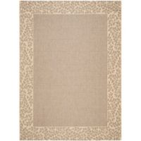 Safavieh Courtyard 8-Foot x 11-Foot Emma Indoor/Outdoor Rug in Brown/Natural