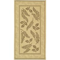 Safavieh Courtyard 2-Foot x 3-Foot 7-Inch Emily Indoor/Outdoor Rug in Natural/Brown