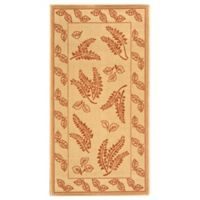 Safavieh Courtyard 2-Foot 7-Inch x 5-Foot Emily Indoor/Outdoor Rug in Natural/Terra