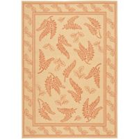 Safavieh Courtyard 8-Foot x 11-Foot Emily Indoor/Outdoor Rug in Natural/Terra