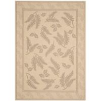 Safavieh Courtyard 8-Foot x 11-Foot Emily Indoor/Outdoor Rug in Natural/Brown