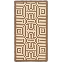 Safavieh Courtyard 2-Foot x 3-Foot 7-Inch Daisy Indoor/Outdoor Rug in Chocolate/Natural