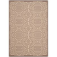 Safavieh Courtyard 6-Foot 7-Inch x 9-Foot 6-Inch Daisy Indoor/Outdoor Rug in Chocolate/Natural