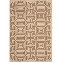 Safavieh Courtyard 6-Foot 7-Inch x 9-Foot 6-Inch Daisy Indoor/Outdoor Rug in Natural/Brown