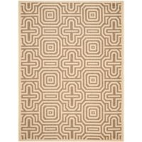 Safavieh Courtyard 8-Foot x 11-Foot Daisy Indoor/Outdoor Rug in Natural/Brown