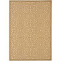 Safavieh Courtyard 8-Foot x 11-Foot Daisy Indoor/Outdoor Rug in Brown/Natural