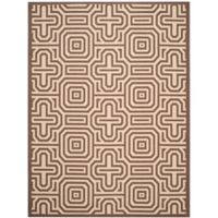 Safavieh Courtyard 8-Foot x 11-Foot Daisy Indoor/Outdoor Rug in Chocolate/Natural