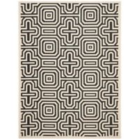 Safavieh Courtyard 9-Foot x 12-Foot Daisy Indoor/Outdoor Rug in Sand/Black