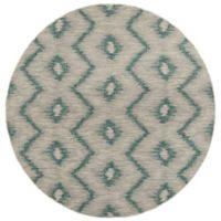 Safavieh Courtyard 6-Foot 7-Inch x 6-Foot 7-Inch Nola Indoor/Outdoor Rug in Grey/Blue