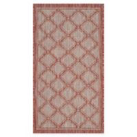 Safavieh Courtyard 2-Foot x 3-Foot 7-Inch Rosie Indoor/Outdoor Rug in Red/Beige