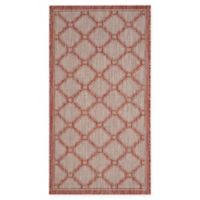 Safavieh Courtyard 2-Foot 7-Inch x 5-Foot Rosie Indoor/Outdoor Rug in Red/Beige