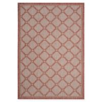Safavieh Courtyard 6-Foot 7-Inch x 9-Foot 6-Inch Rosie Indoor/Outdoor Rug in Red/Beige