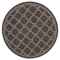 Safavieh Courtyard 6-Foot 7-Inch x 6-Foot 7-Inch Sky Indoor/Outdoor Rug in Natural/Black
