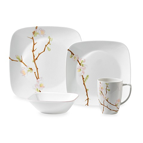 Corelle® Ultra™ Cherry Blossom 16-Piece Dinnerware Set  sc 1 st  Bed Bath u0026 Beyond & Corelle® Ultra™ Cherry Blossom 16-Piece Dinnerware Set - Bed Bath ...