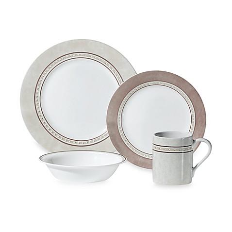 Corelle® Impressions™ Pewter 16-Piece Dinnerware Set - Bed Bath & Beyond