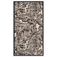 Safavieh Courtyard 2-Foot 7-Inch x 5-Foot Lucia Indoor/Outdoor Rug in Sand/Black