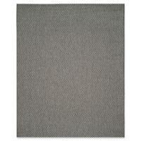 Safavieh Courtyard 9-Foot x 12-Foot Thalia Indoor/Outdoor Rug in Black/Light Grey