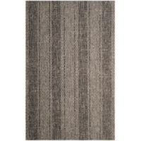 Safavieh Courtyard 4-Foot x 5-Foot 7-Inch Tori Indoor/Outdoor Rug in Light Grey/Black