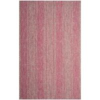 Safavieh Courtyard 6-Foot 7-Inch x 9-Foot 6-Inch Tori Indoor/Outdoor Rug in Light Grey/Fuchsia